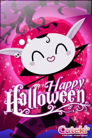 Cuteki iPhone wallpaper cuteki-iPhone-Happy-Halloween. Cute Kawaii