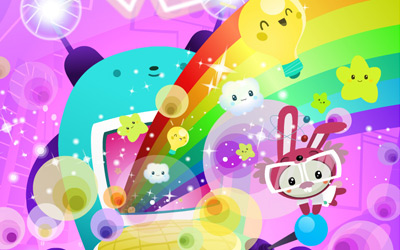 Cuteki Wallpaper: Rainbow