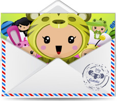 Cuteki Ecard: Birthday cake  Animated and personalized e-card. Email ...