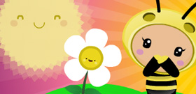 Cuteki postal: Flower Power