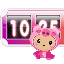 Kawaii Piggy Clock