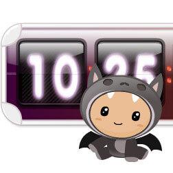 Kawaii Vamp Clock