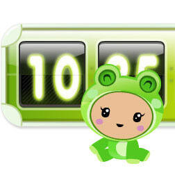 Kawaii Frog Clock